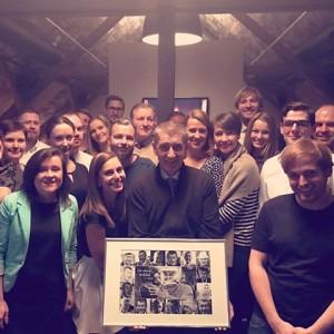 Moji nejbližší každodenní kolegové, skvělý mladý tým. Napsal A. Babiš na FB.16. 12. 2016