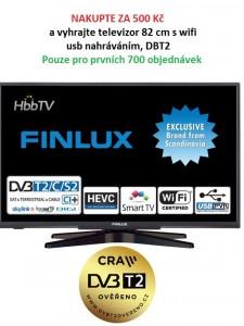 Nakupte za 500 Kč a vyhrajte televizor s internetem a úhlopříčkou 82 cm.