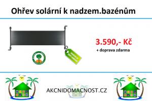 Solární ohřevy vody za fantastické ceny.