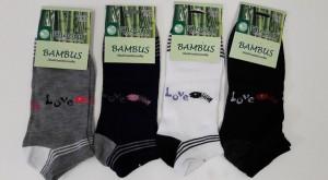 Ponožky s bambusovým vláknem kotníčkové v akci za 15 Kč!